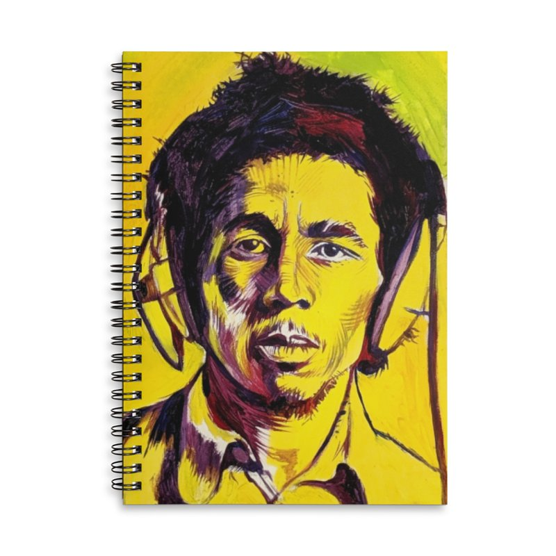 bob Accessories Lined Spiral Notebook by paintings by Seamus Wray