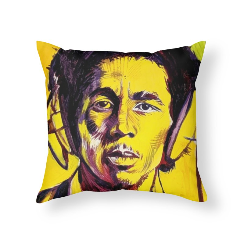 bob Home Throw Pillow by paintings by Seamus Wray
