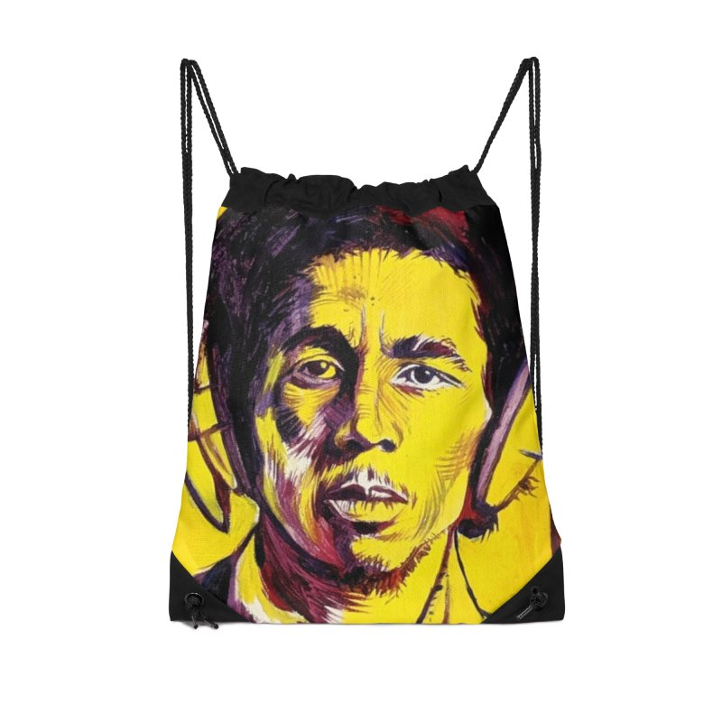 bob Accessories Drawstring Bag Bag by paintings by Seamus Wray
