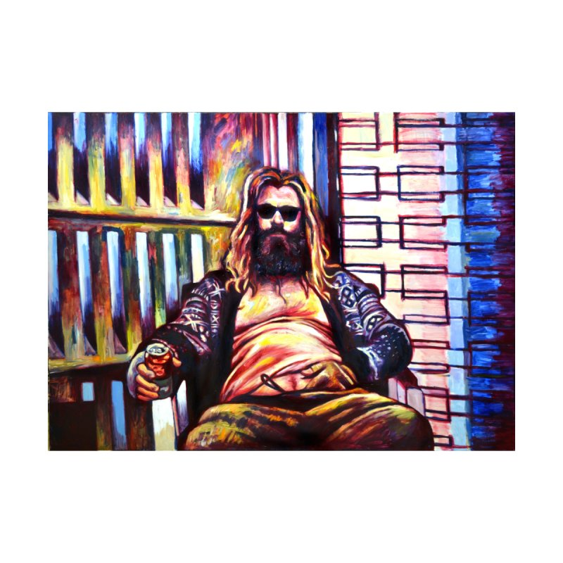 fat thor Home Shower Curtain by paintings by Seamus Wray