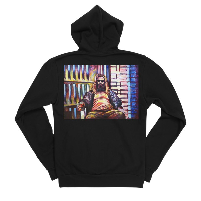 fat thor Women's Sponge Fleece Zip-Up Hoody by paintings by Seamus Wray