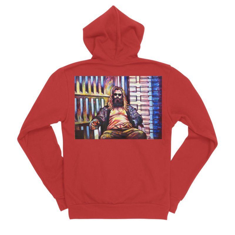 fat thor Women's Zip-Up Hoody by paintings by Seamus Wray