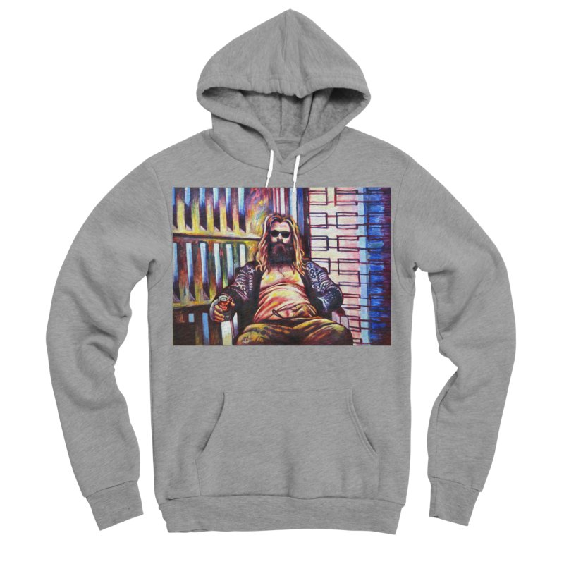 fat thor Women's Sponge Fleece Pullover Hoody by paintings by Seamus Wray
