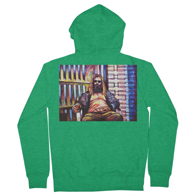 fat thor Men's Zip-Up Hoody by paintings by Seamus Wray