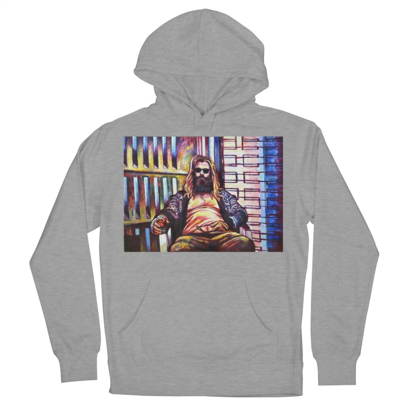 fat thor Women's French Terry Pullover Hoody by paintings by Seamus Wray