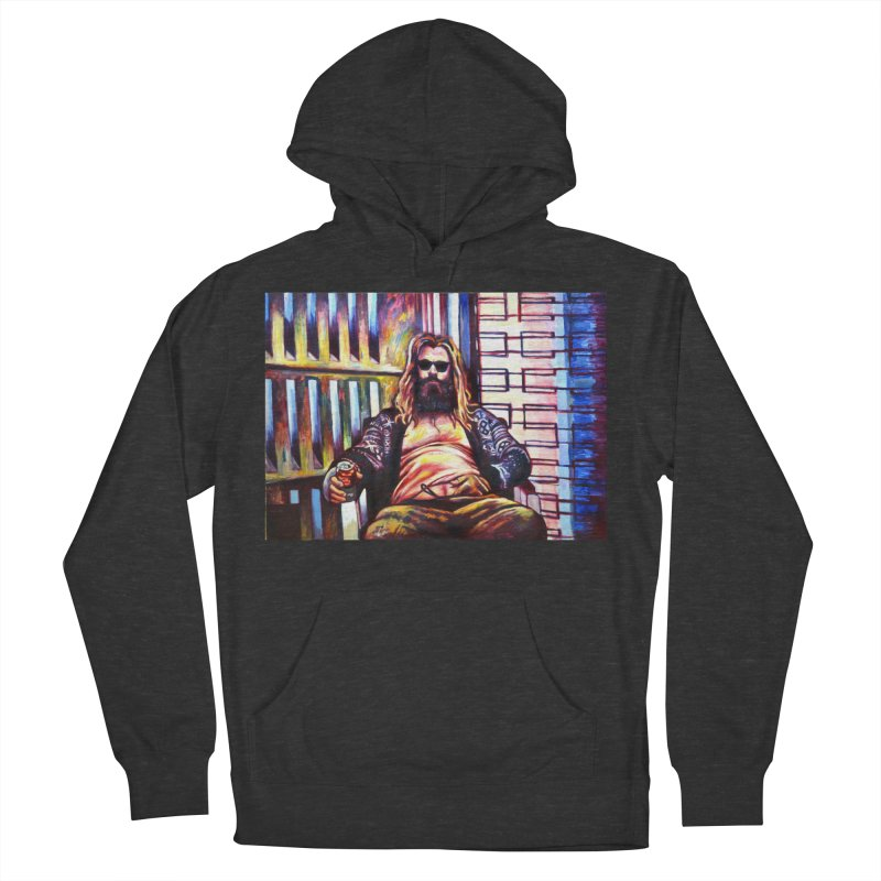 fat thor Men's French Terry Pullover Hoody by paintings by Seamus Wray