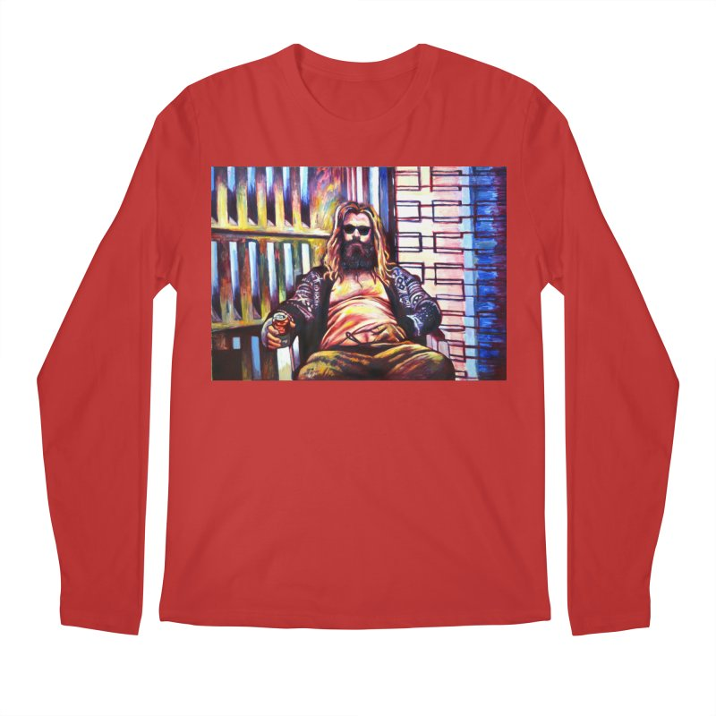 fat thor Men's Regular Longsleeve T-Shirt by paintings by Seamus Wray