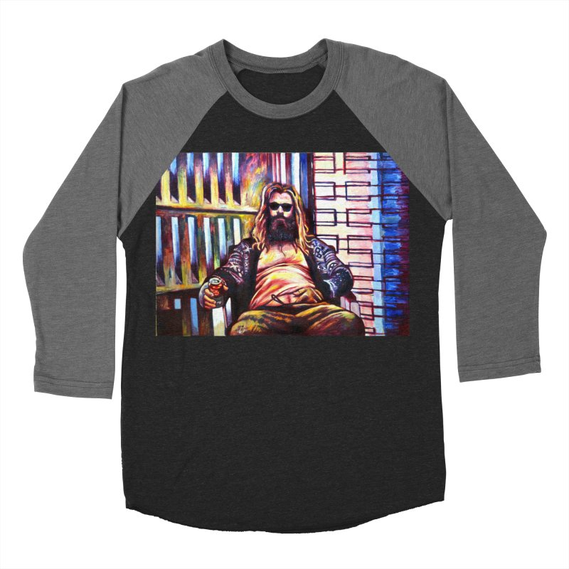 fat thor Women's Baseball Triblend Longsleeve T-Shirt by paintings by Seamus Wray