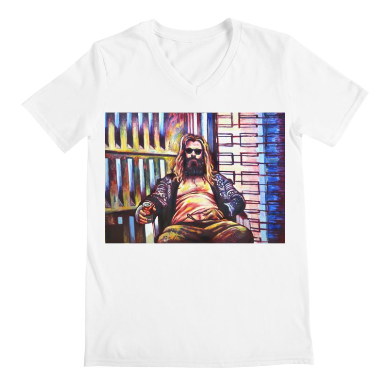 fat thor Men's V-Neck by paintings by Seamus Wray