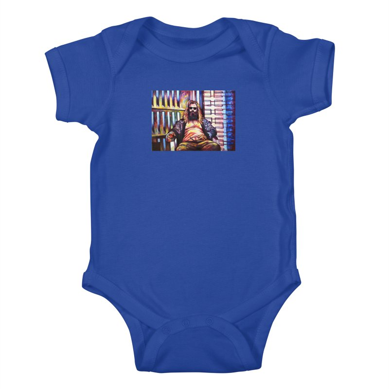 fat thor Kids Baby Bodysuit by paintings by Seamus Wray