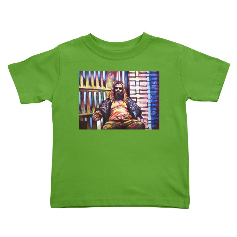 fat thor Kids Toddler T-Shirt by paintings by Seamus Wray