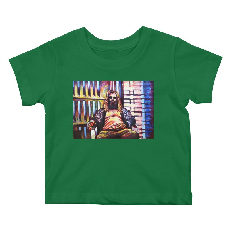fat thor Kids Baby T-Shirt by paintings by Seamus Wray