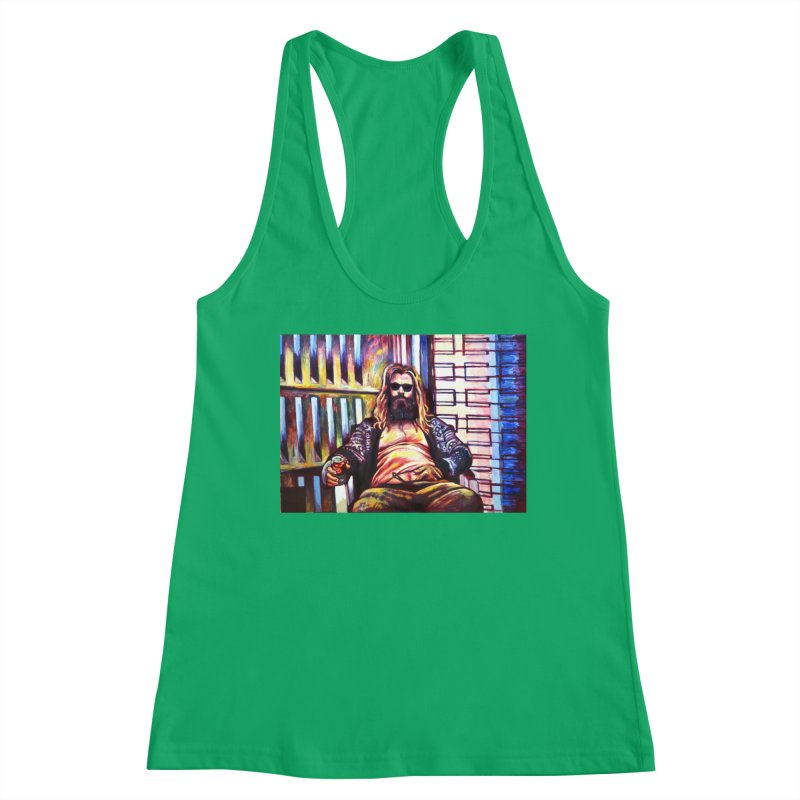 """fat thor Women's Tank by Art Prints by Seamus Wray available under """"Home"""""""