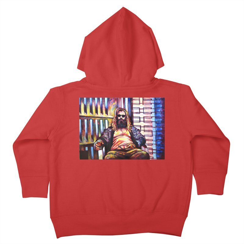 fat thor Kids Toddler Zip-Up Hoody by paintings by Seamus Wray