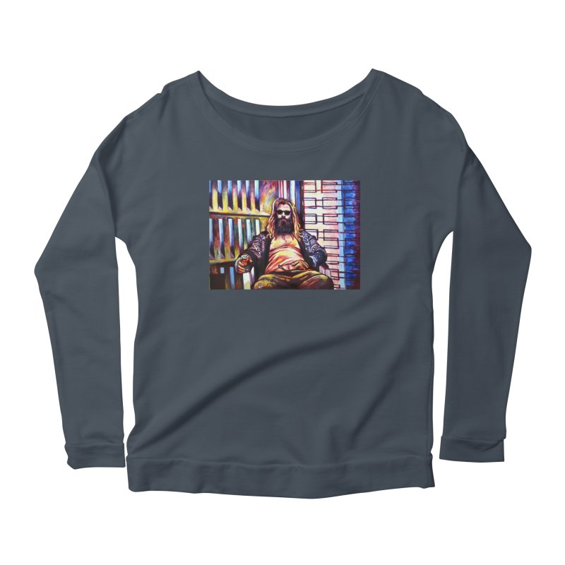 fat thor Women's Scoop Neck Longsleeve T-Shirt by paintings by Seamus Wray