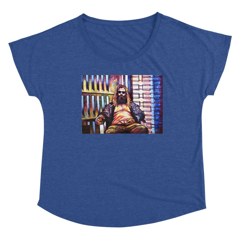 """fat thor Women's Scoop Neck by Art Prints by Seama available under """"Home"""""""
