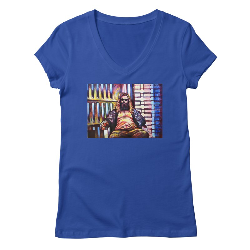 fat thor Women's Regular V-Neck by paintings by Seamus Wray