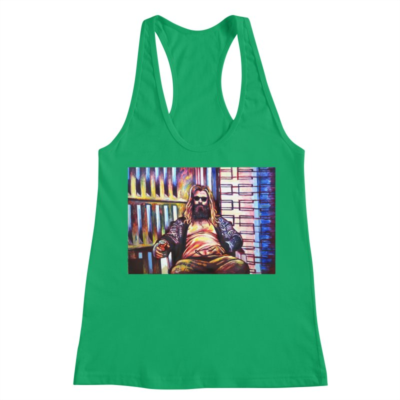 fat thor Women's Tank by paintings by Seamus Wray
