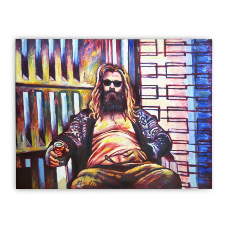 fat thor Home Stretched Canvas by paintings by Seamus Wray