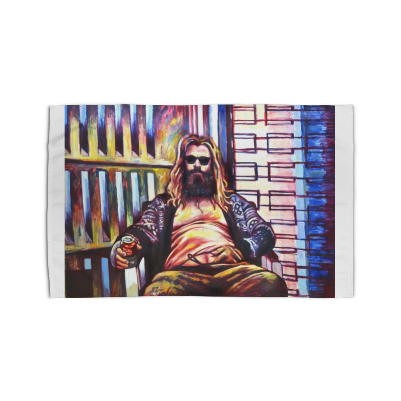 fat thor Home Rug by paintings by Seamus Wray