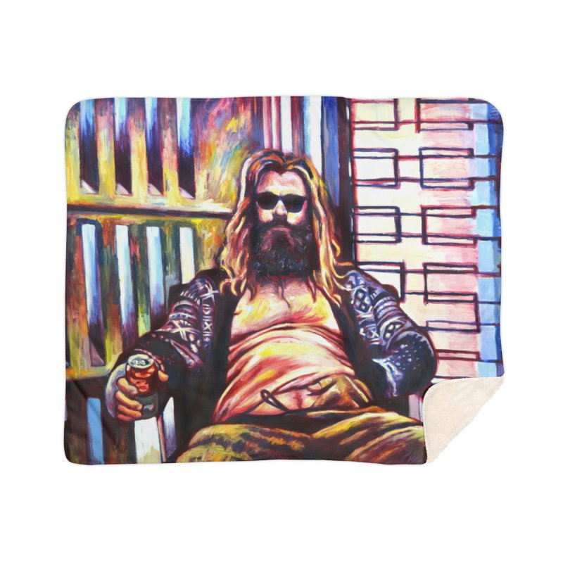 fat thor Home Blanket by paintings by Seamus Wray