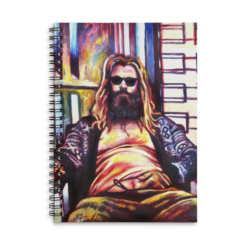 fat thor Accessories Notebook by paintings by Seamus Wray