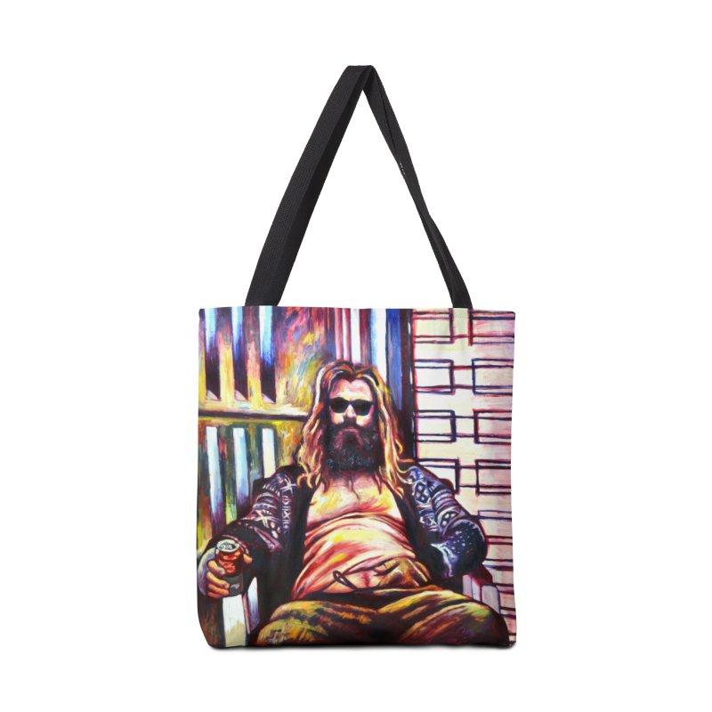 fat thor Accessories Tote Bag Bag by paintings by Seamus Wray