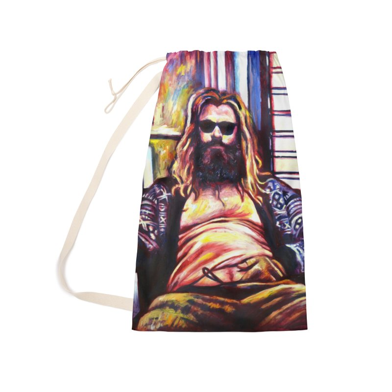 fat thor Accessories Laundry Bag Bag by paintings by Seamus Wray