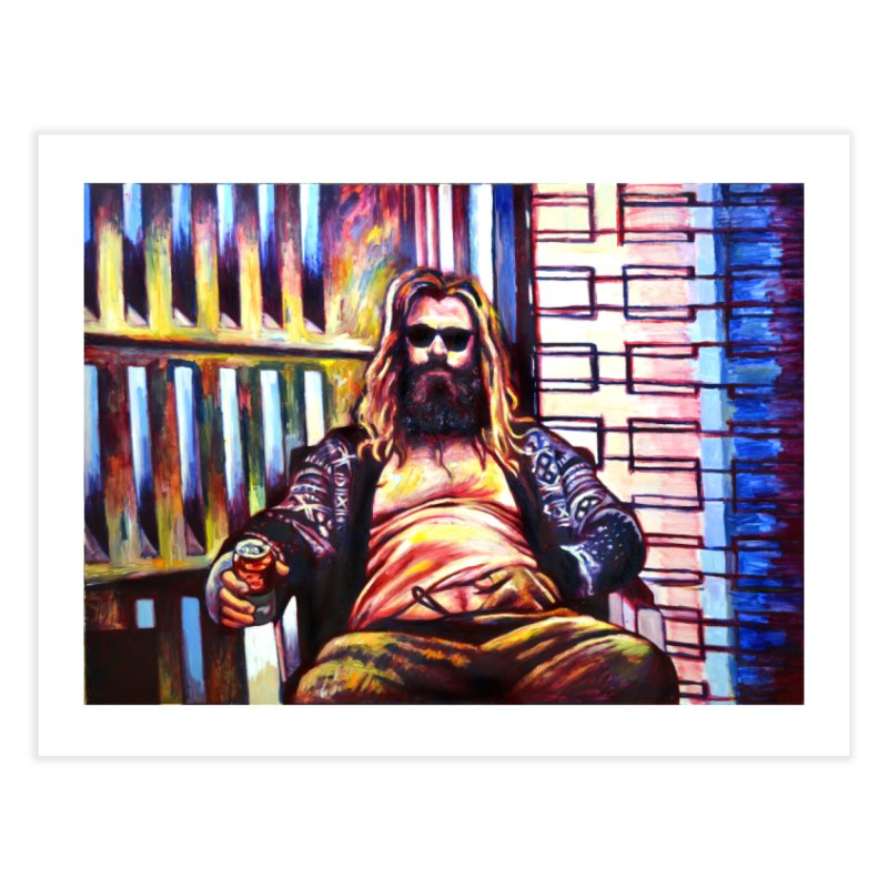 fat thor Home Fine Art Print by paintings by Seamus Wray