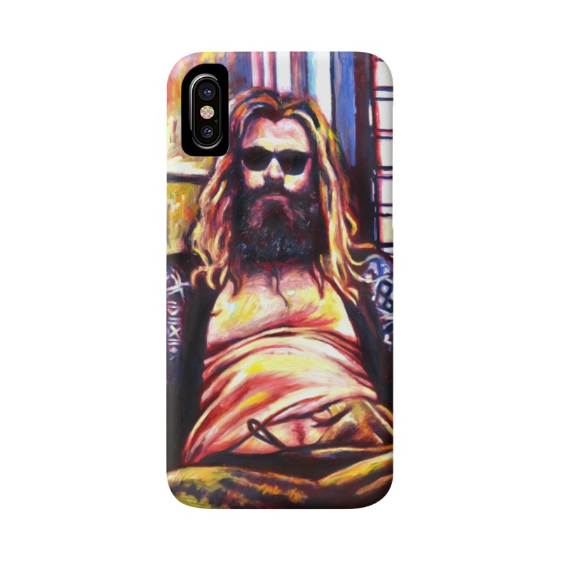 fat thor Accessories Phone Case by paintings by Seamus Wray