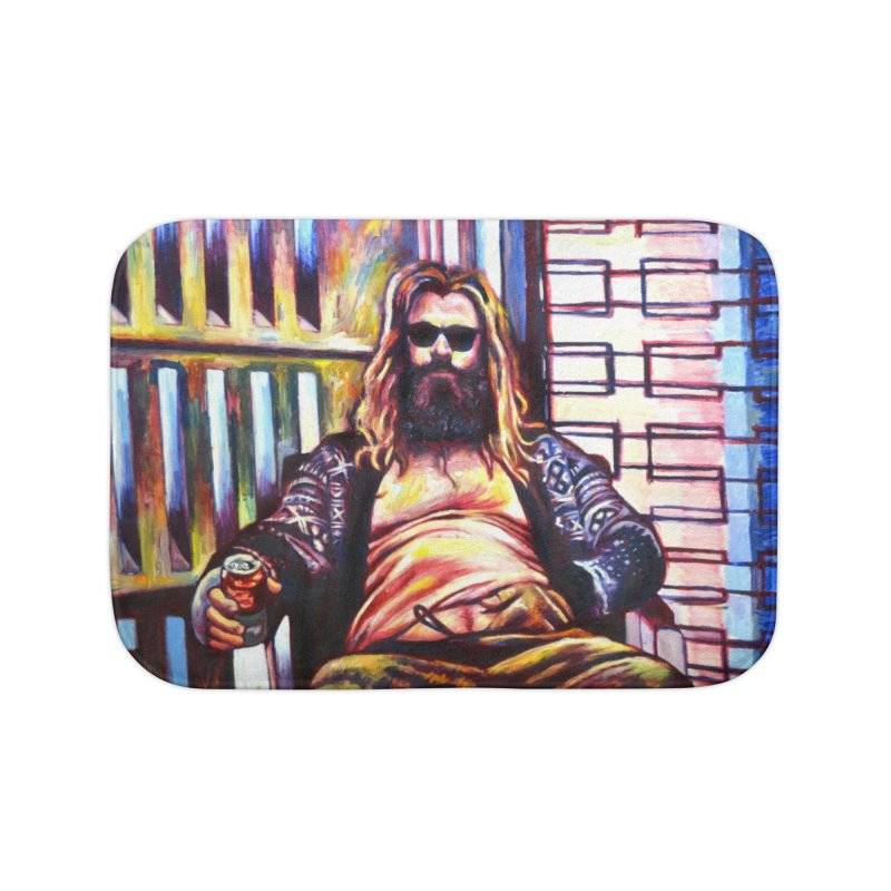 fat thor Home Bath Mat by paintings by Seamus Wray