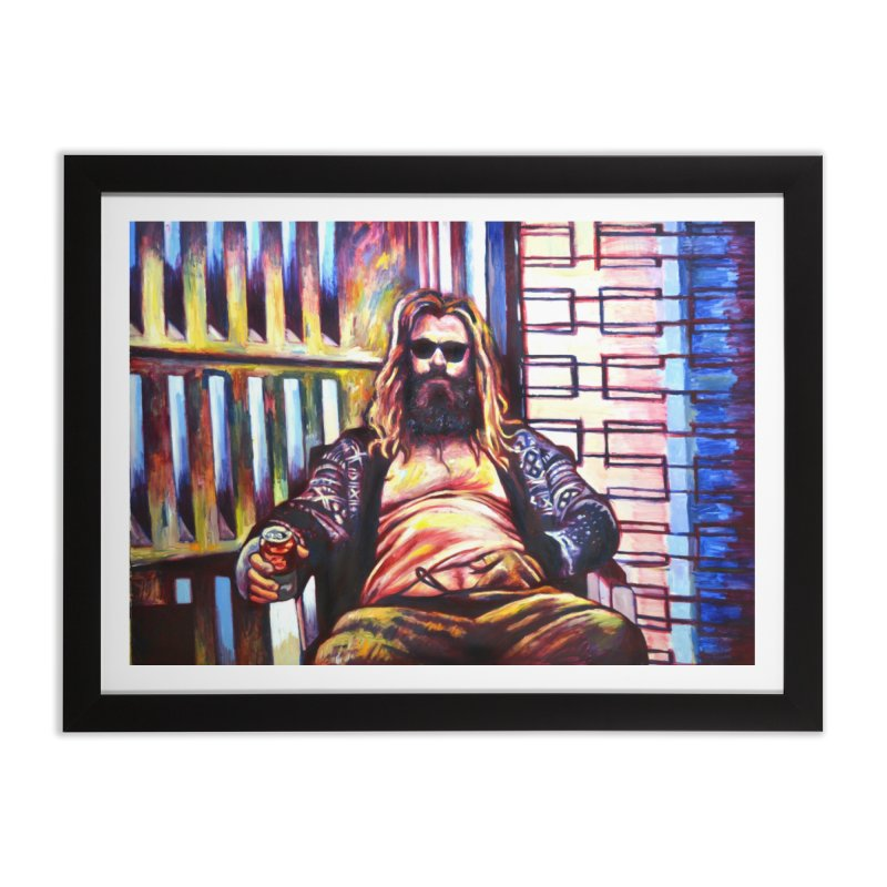fat thor Home Framed Fine Art Print by paintings by Seamus Wray