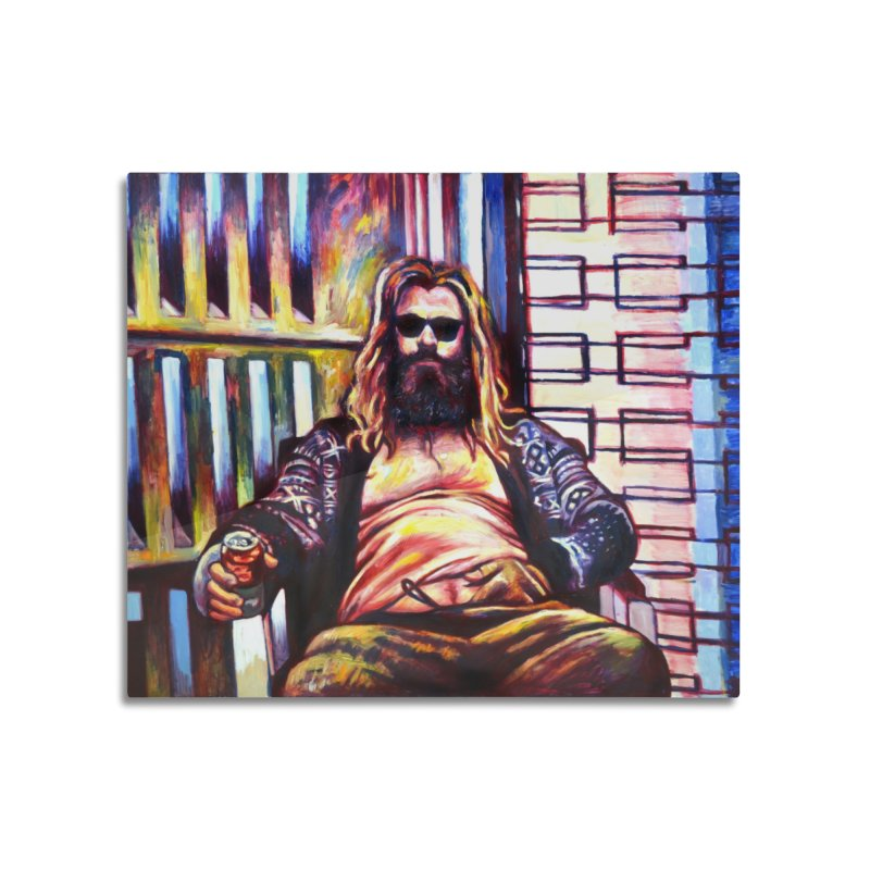 fat thor Home Mounted Aluminum Print by paintings by Seamus Wray