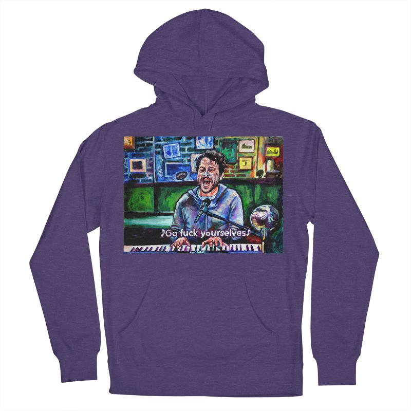 go fuck yourselves Women's French Terry Pullover Hoody by paintings by Seamus Wray