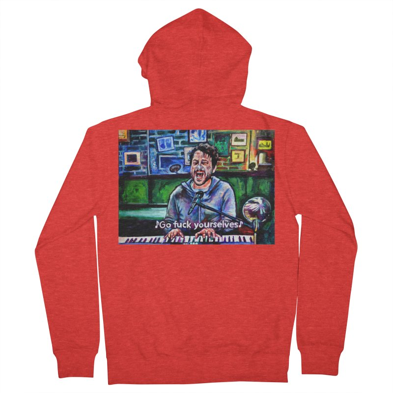 """go fuck yourselves Men's Zip-Up Hoody by Art Prints by Seamus Wray available under """"Home"""""""