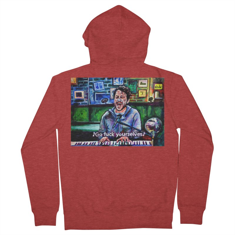 go fuck yourselves Men's French Terry Zip-Up Hoody by paintings by Seamus Wray