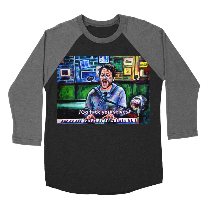 go fuck yourselves Women's Baseball Triblend Longsleeve T-Shirt by paintings by Seamus Wray