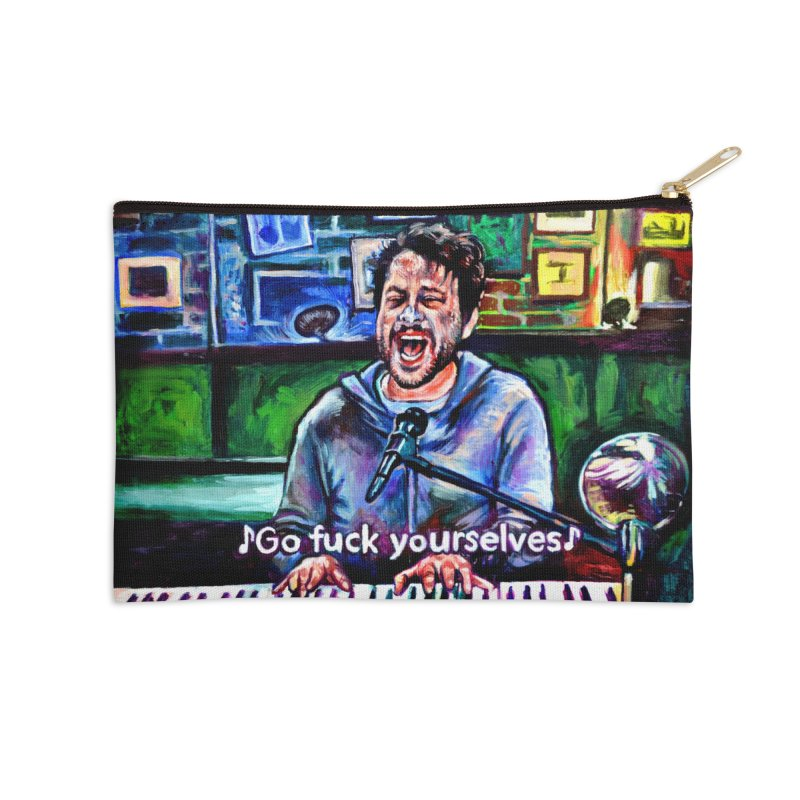 go fuck yourselves Accessories Zip Pouch by paintings by Seamus Wray