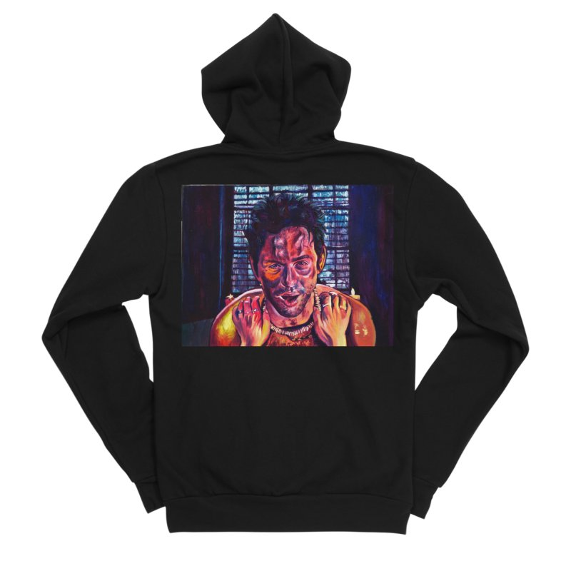 become the journey Women's Sponge Fleece Zip-Up Hoody by paintings by Seamus Wray