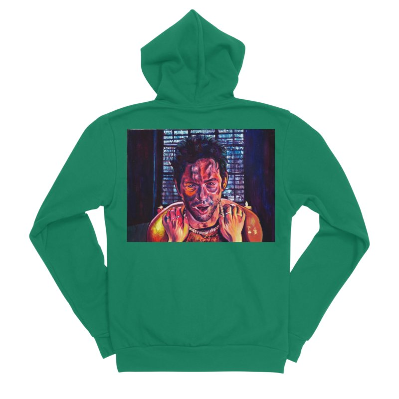 become the journey Men's Sponge Fleece Zip-Up Hoody by paintings by Seamus Wray