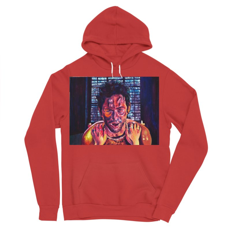 become the journey Men's Sponge Fleece Pullover Hoody by paintings by Seamus Wray