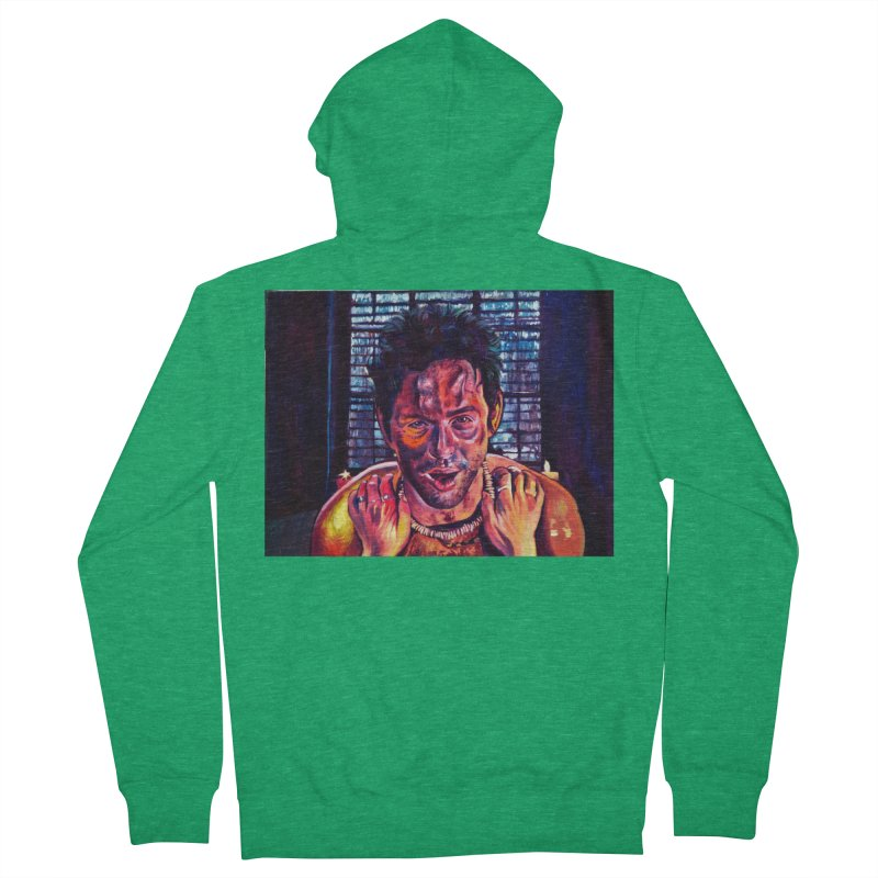 become the journey Men's Zip-Up Hoody by paintings by Seamus Wray