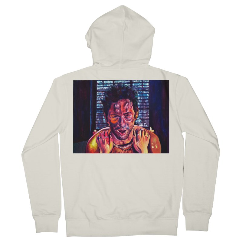 become the journey Men's French Terry Zip-Up Hoody by paintings by Seamus Wray