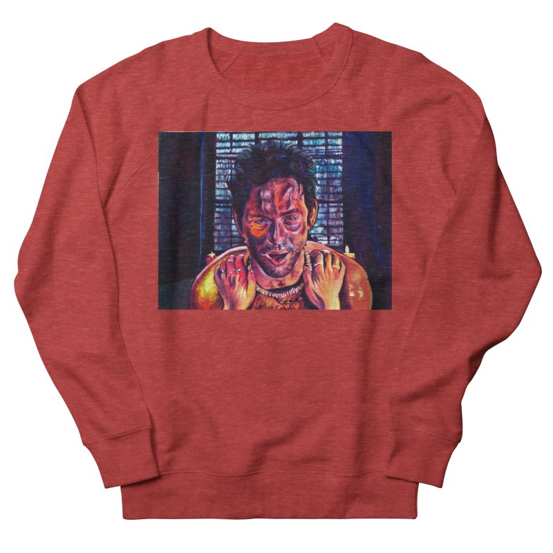 become the journey Men's French Terry Sweatshirt by paintings by Seamus Wray