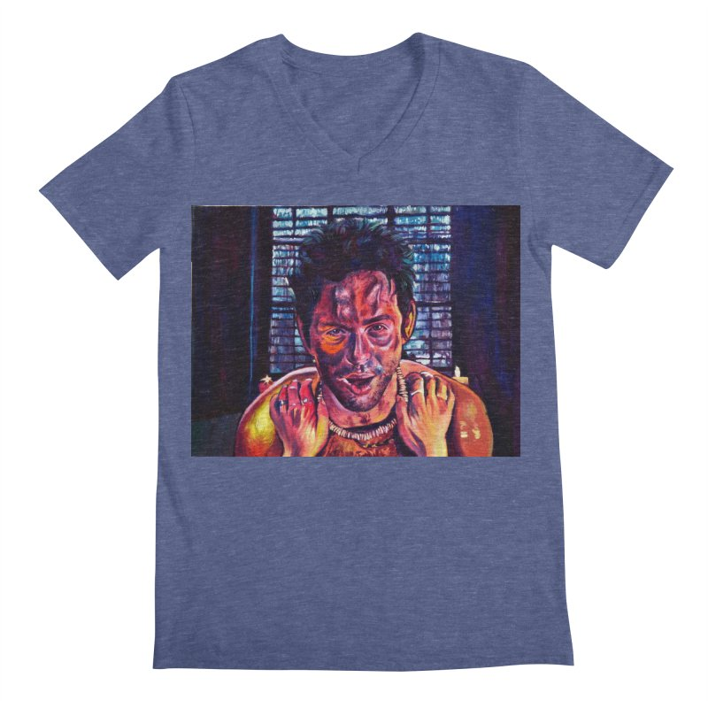 become the journey Men's Regular V-Neck by paintings by Seamus Wray