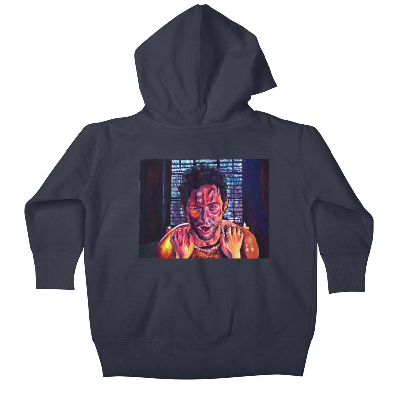 become the journey Kids Baby Zip-Up Hoody by paintings by Seamus Wray