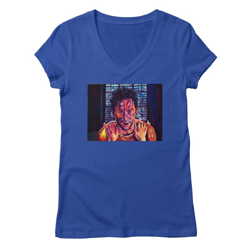 become the journey Women's Regular V-Neck by paintings by Seamus Wray