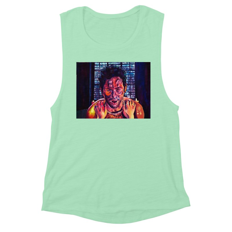 become the journey Women's Muscle Tank by paintings by Seamus Wray