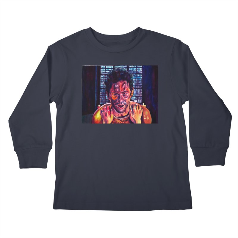 become the journey Kids Longsleeve T-Shirt by paintings by Seamus Wray