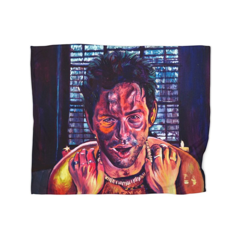 become the journey Home Fleece Blanket Blanket by paintings by Seamus Wray
